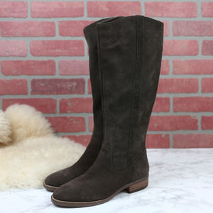 Sole Society Dark Taupe Suede Knee Boots 7